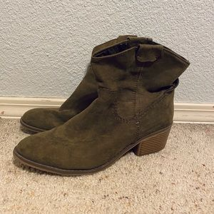 Target Olive Green Ankle Booties
